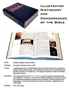 Silent Auction: Illustrated Dictionary and Concordance of the Bible