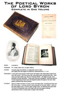 Silent Auction: The Poetical Works of Lord Byron